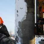На правом берегу Новосибирска возводят 10 опор для 3-го моста